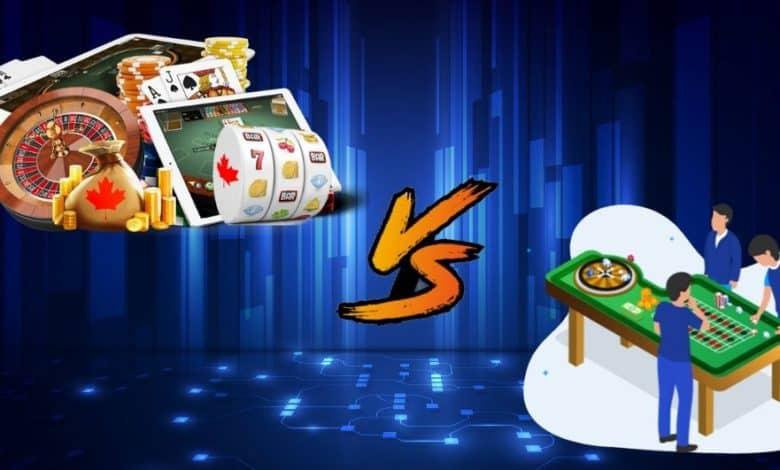 Online Casino vs Land based Casinos