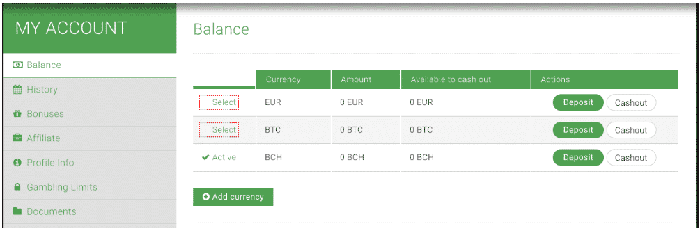 Convert the Balance in your Account to Euros