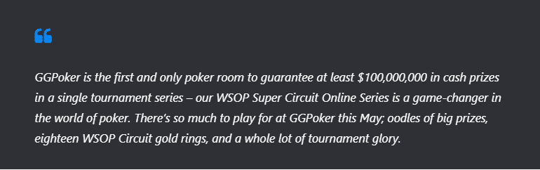 the head of GGPoker, Jean-Christophe Antoine, said