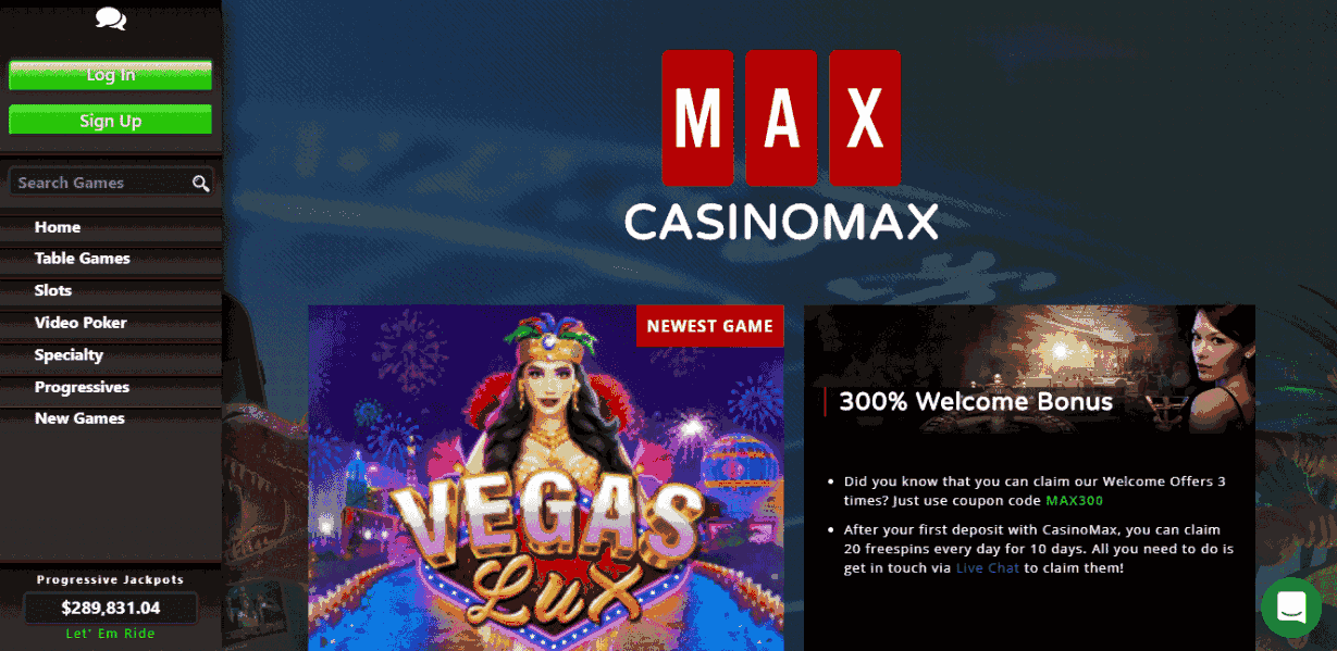 CasinoMax Casino Review – Vegas Lux