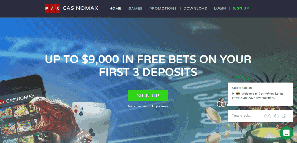 CasinoMax Casino Review – home page