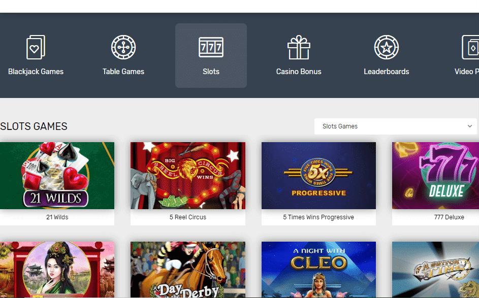 Bovada Casino Review - Slots games