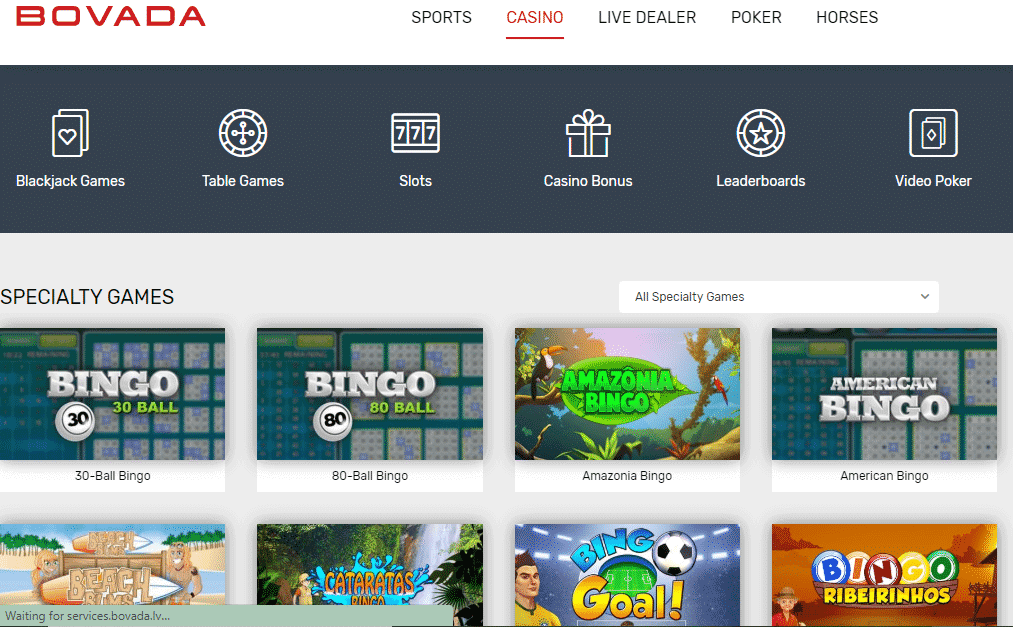 Bovada Review - Specialty games
