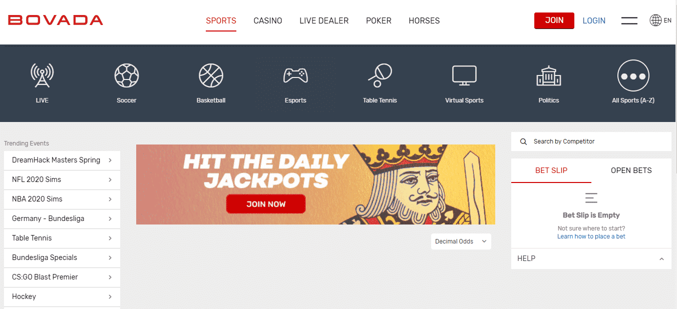 Bovada Casino Review - Sports