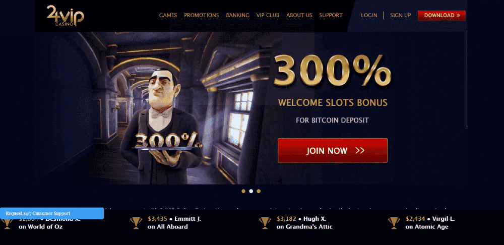 24vip Casino Review 300 Welcome Slots Bonus For Bitcoin Deposit