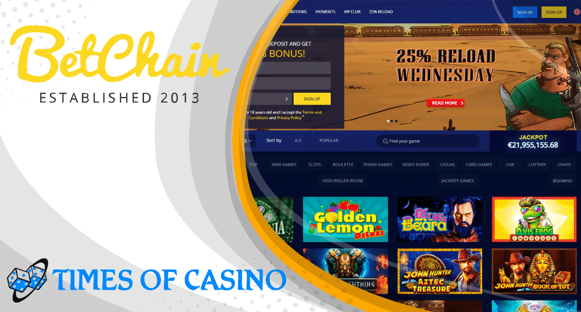 Betchain Review 2020 Casino Facts Bonuses And Games