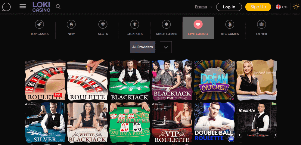 Loki Casino Review - The live casino games