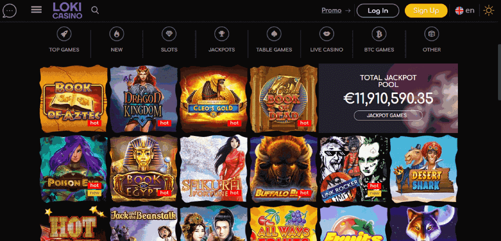 Loki Casino Reviews - The games at the casino