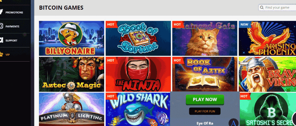 Playamo Casino Review - Bitcoin Games