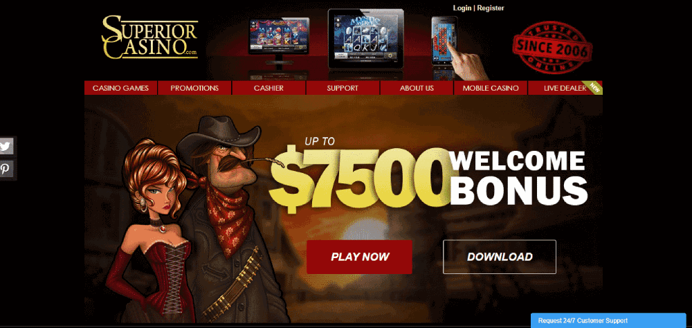 Superior Casino Review - Well Designed Interface