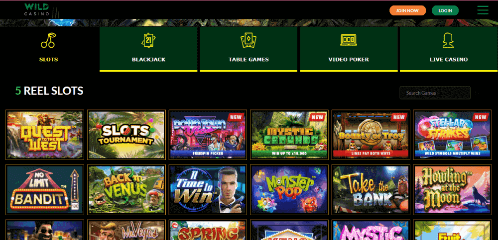 Wild Casino Review – Slots