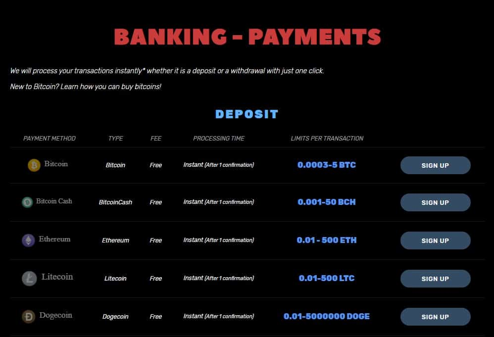 Payment Options that Support Other Cryptos