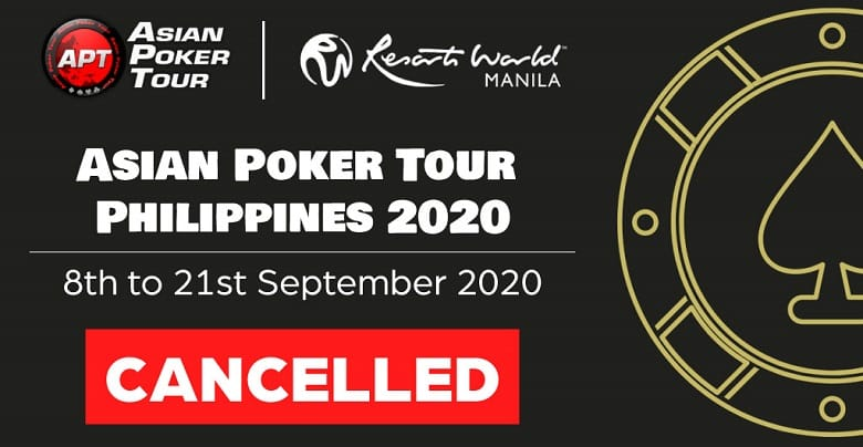 Asian Poker Tour Philippines Gets Cancelled Due To COVID-19 Impact