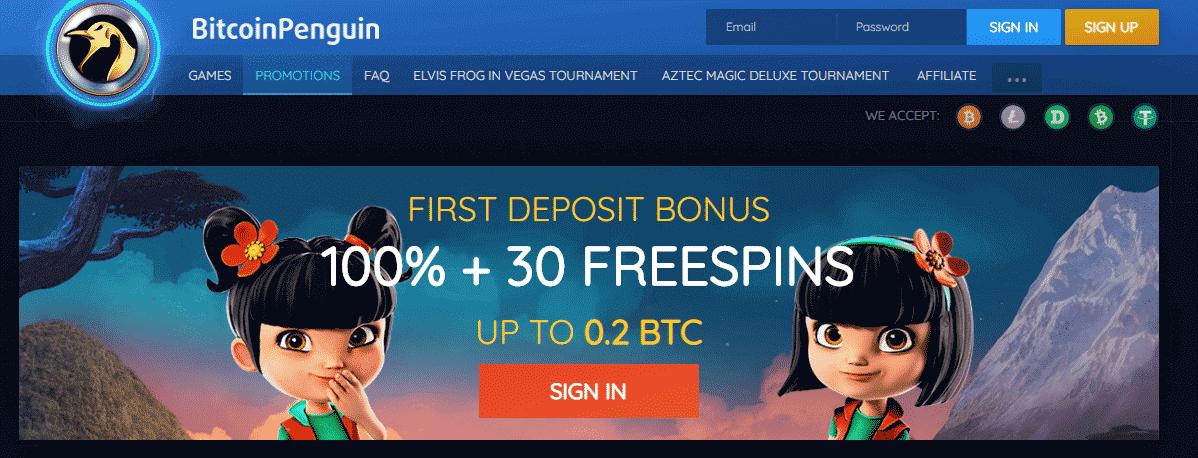 Bitcoin Penguin Casino Отзывы - Приветственный Бонус