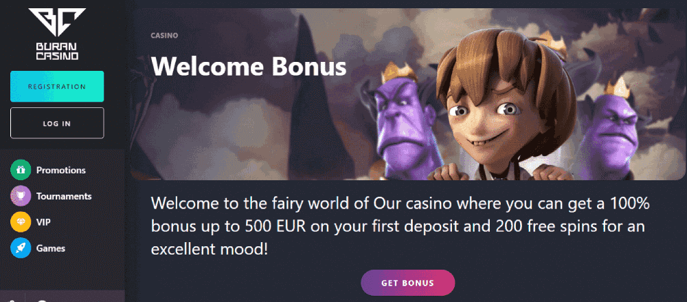 Buran Casino Reviews - Welcome Bonus