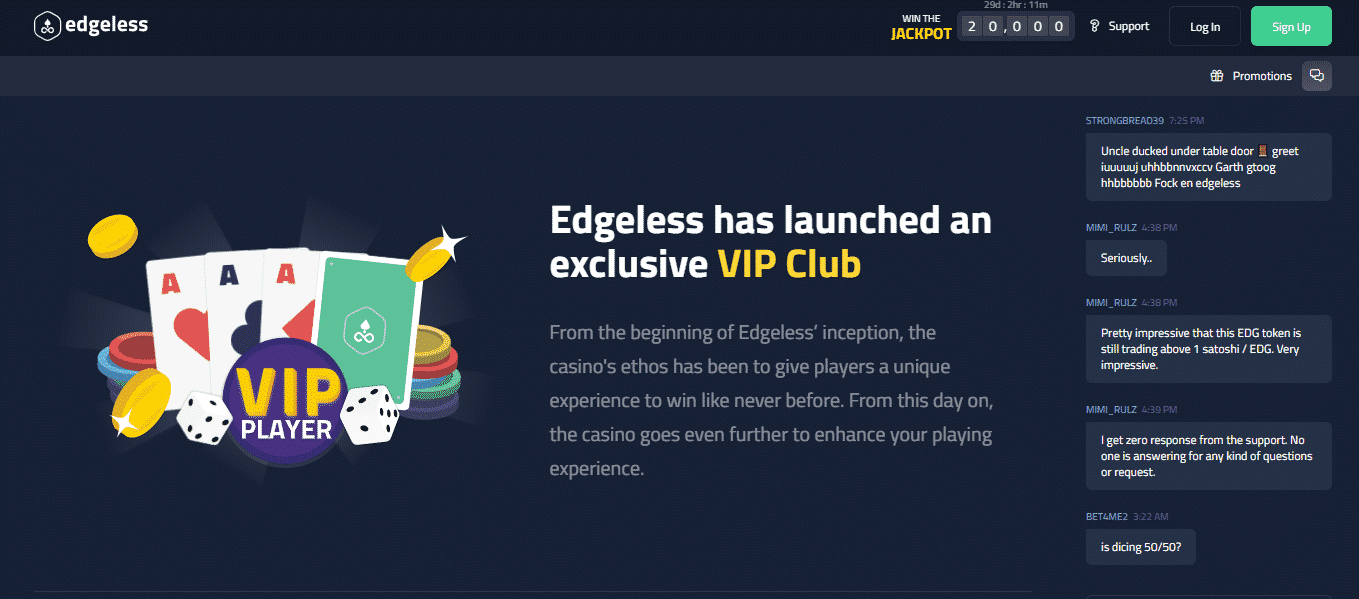 Edgeless Casino Review - The VIP Club