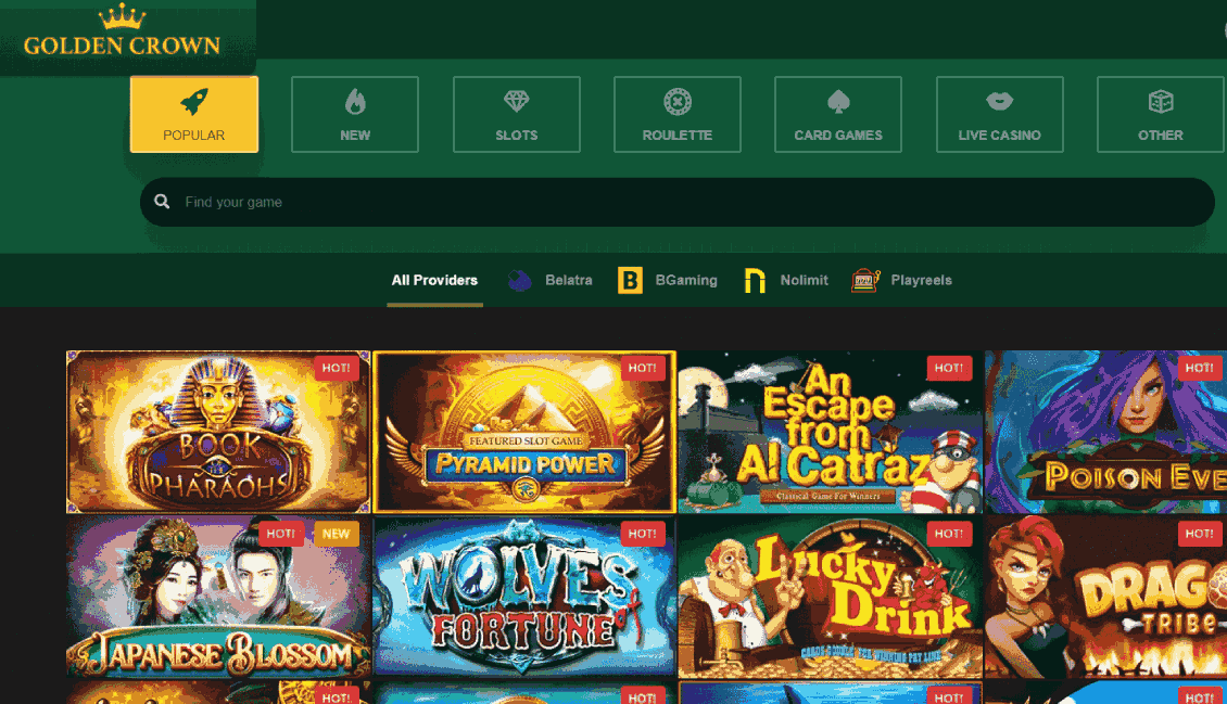 Golden Crown Casino Reviews - User-friendly Interface