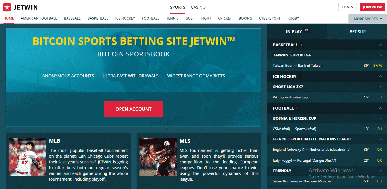 Jetwin Reviews - Sports Section