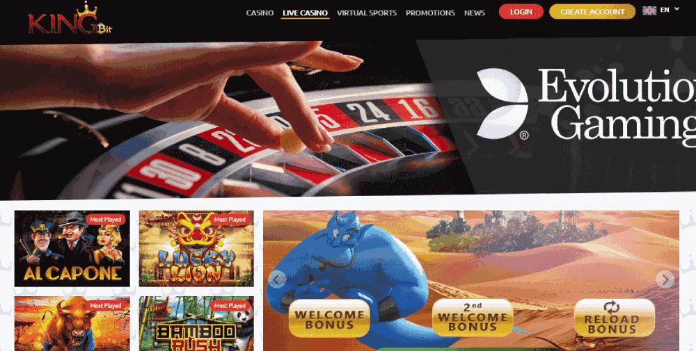 Kingbit Casino Review - Live casino games