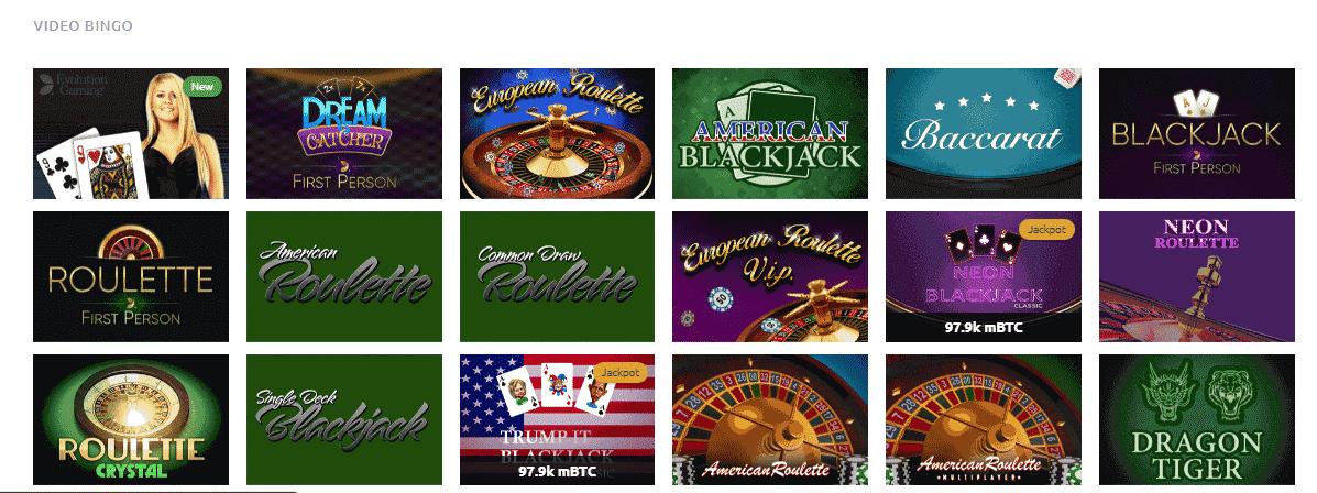 Kingbit Casino Reviews - Table games