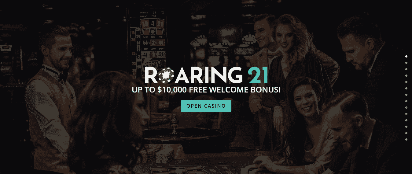 Roaring 21 review - The interface of the casino