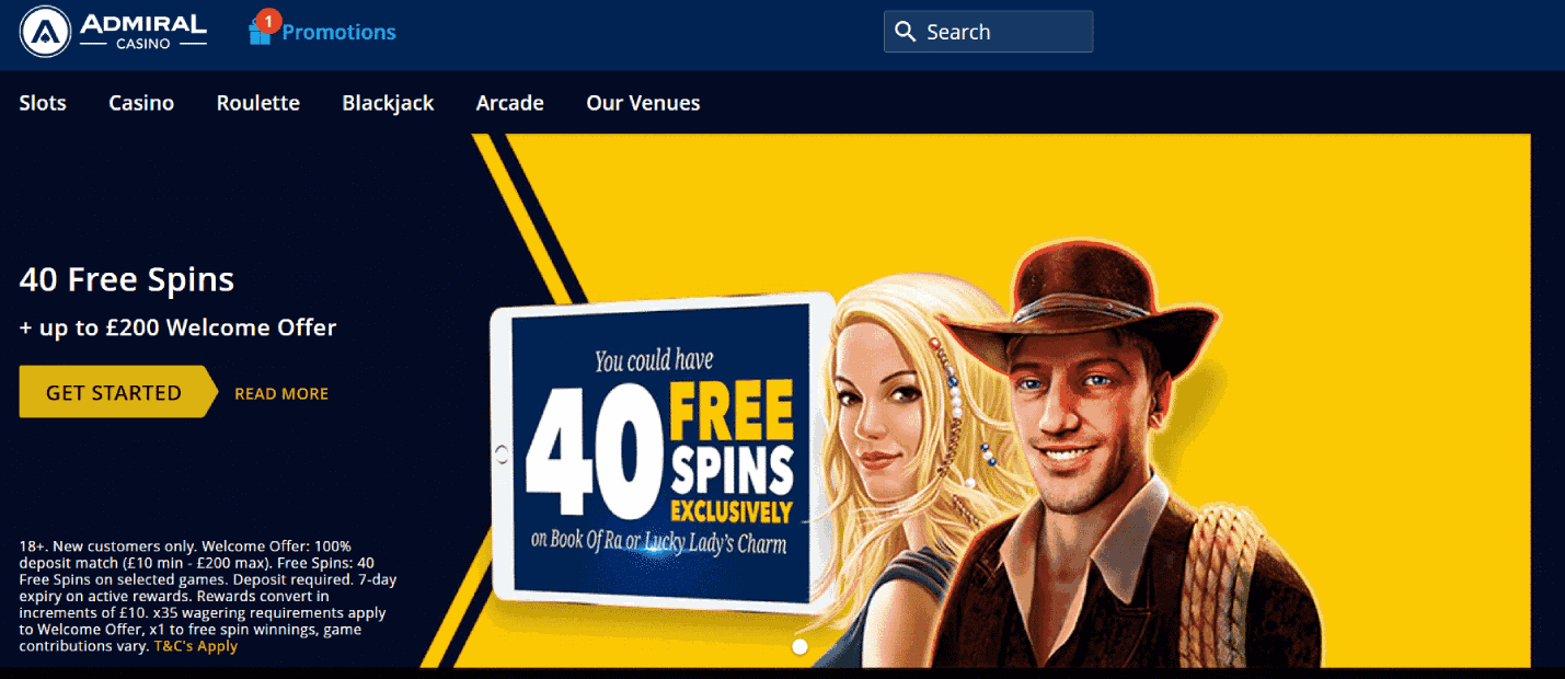 Admiral Casino Review 2021 - Get complete and honest reviews