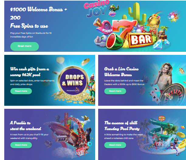 Bonuses and Promotions at Casino Joy