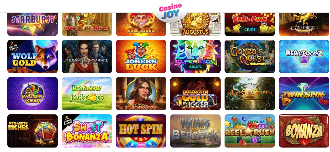 Enjoy wide Array of Games with Casino Joy