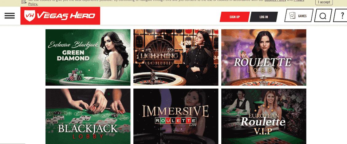 Vegas Hero - Interface